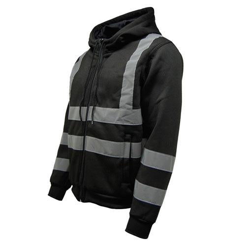 Hi Vis Hoody, Hooded Zipper Jacket Sizes S - 3XL, 3 Colours HV008