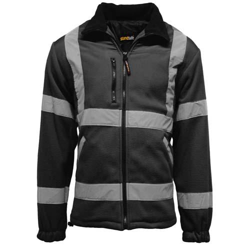 Hi Vis Fleece Jacket Sizes S - 3XL, Safety Jackets, Black, Yellow, Orange Standsafe HV022