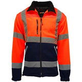 Hi Vis Fleece Jacket Sizes S - 3XL, Safety Jackets, Black, Yellow, Orange Stands