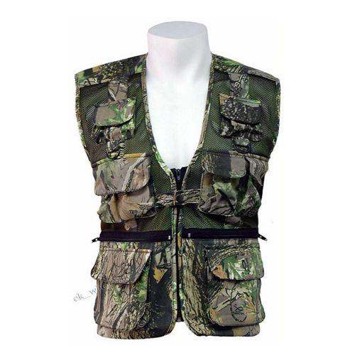 Camouflage Gilet Multi Pocket Vest Camo Hunting Shooting Jacket Stormkloth Gilet