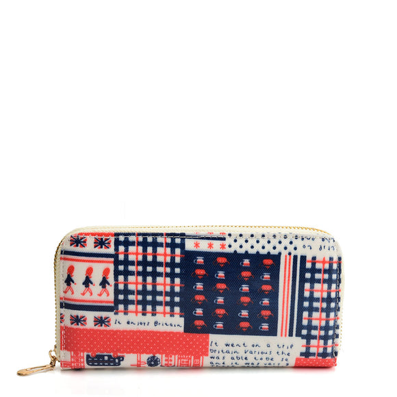 VKP1625 K - Long Wallet With Printed Decoration