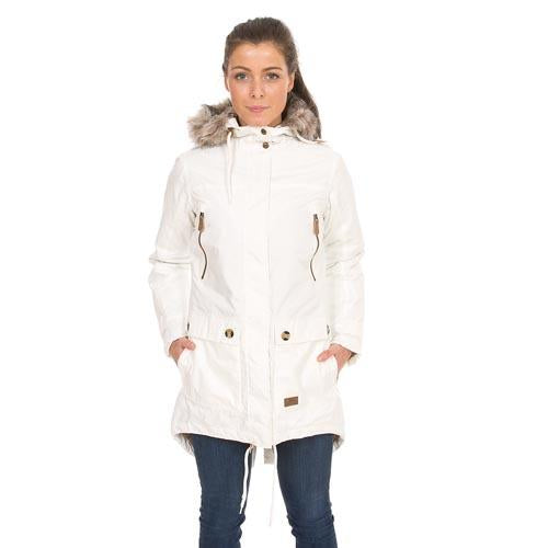 Ladies Waterproof Parka Coat Jacket White Hooded Trespass Parka Jackets S-XXL UK
