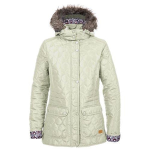 Trespass Womans White Padded Jacket S-XXL Ladies Hooded Winter Coat Jenna Jacket
