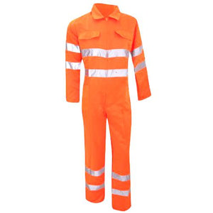 Hi Vis Overall Sizes S - 3XL Polycotton Coverall, Boiler Suit, Yoko HV058 Overal