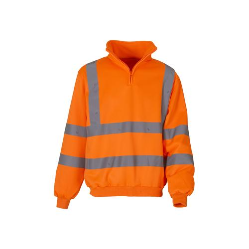 Hi Vis Sweatshirt Sizes S - 3XL, Zip Fleece Safety Clothing Yoko HVK06