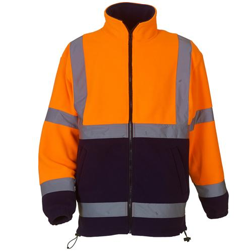 Hi Vis Fleece Jacket Sizes S - 3XL Workwear Safety Jackets Yoko HVK08