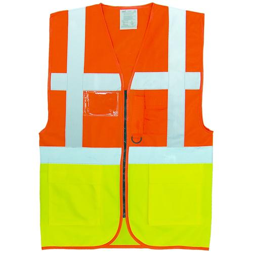 Hi Vis Vest Executive Safety Vests Sizes S - 3XL, Zip Jackets Yoko HVW801