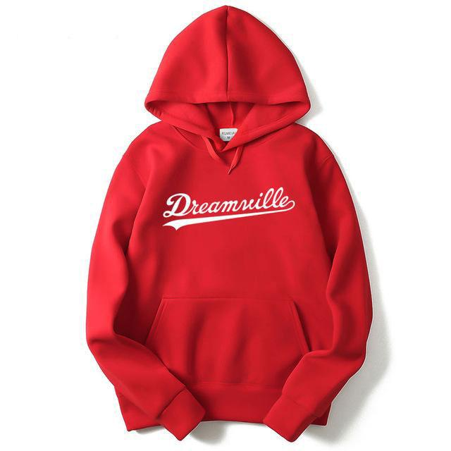 Hoodies Men Hip Hop DREAMVILLE Records Hoodies Swag Letter Fleece Men's Hoodedgeekbuyig-geekbuyig