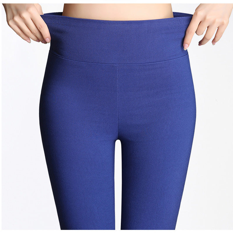 S-6XL15 Colors New Winter Plus Size Women's Pants Fashion Candy Color Skinny high waist elastic Trousers Fit Lady Pencil Pants-geekbuyig