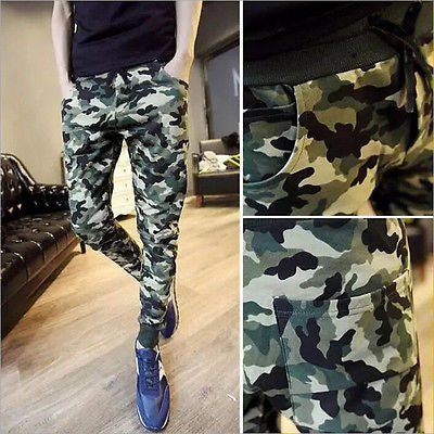 Fashion Cool Mens Camouflage Joggers Slim Harem Slack Trousers Pants Men's Military Pants-geekbuyig