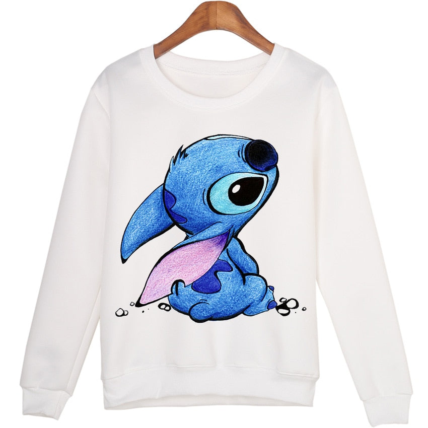 Women Plus Size Casual sudaderas mujer 2016 Cartoon Printed Harajuku hoodies Moletom Sweatshirts WMH04-geekbuyig