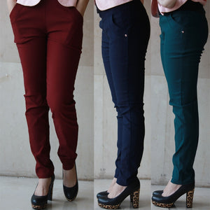 Spring and Autumn Style leggings women trousers plus size 6XL Pockets Korean version of feet High waist women's pants-geekbuyig