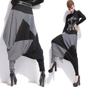 new women pants Harem Pants Cotton Trousers Casual pants Hip-hop pants-geekbuyig