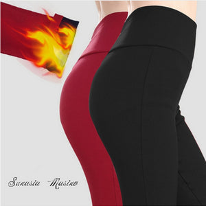 brand women Trousers plus size S-6XL,5XL high waist pants winter warm velvet fitness leggings legging para academia mulheres-geekbuyig