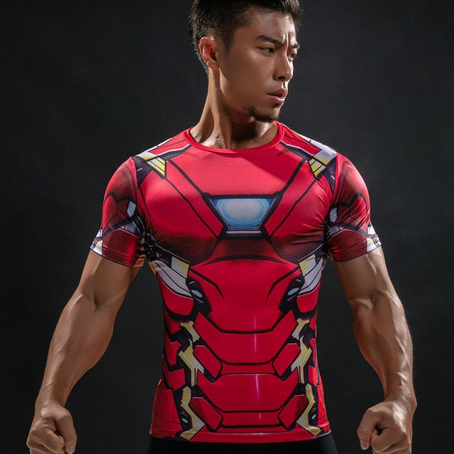 T Shirt Captain America Shield Civil War Tee 3D Printed T-shirts Men Marvel Avengers 3 iron man Fitness Clothing Male Tops 2018-geekbuyig