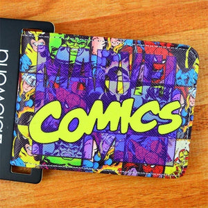 COMICS DC MARVEL THE AVENGERS HULK/IRON MAN THOR/CAPTAIN AMERICA/SUPERMAN PURSE LOGO CREDIT OYSTER LICENSE CARD HOLDER WALLET-geekbuyig