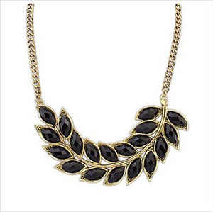 Vintage Fashion Jewelry Leaf Choker Necklace For Women 2015 New Statement Collar Necklaces Nice Quality-geekbuyig