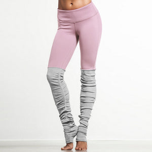 2016 New Candy Color Goddess Ribbed Leggings High Waist Skinny Yuga Pants Wicking Polyester Legins Women Fitness Workout Legging-geekbuyig