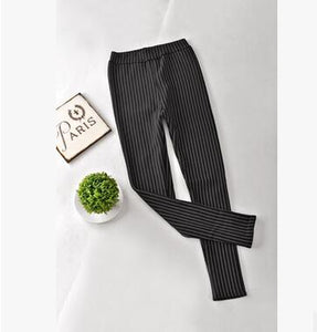 Winter Pants For Women Striped Printed Warm Pencil Pants Thicken Fleeces Leggings Fashion Boot Cut Trousers P8126-geekbuyig