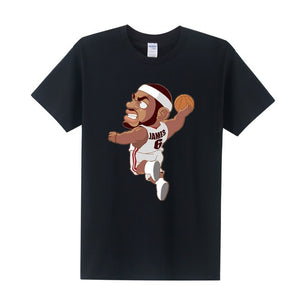 Free shipping Man T Shirt Cartoon Tee Shirt KOBE/PAUL/LeBron James T Shirt WADE/CURRY/Harden T-shirt Men Clothing-geekbuyig