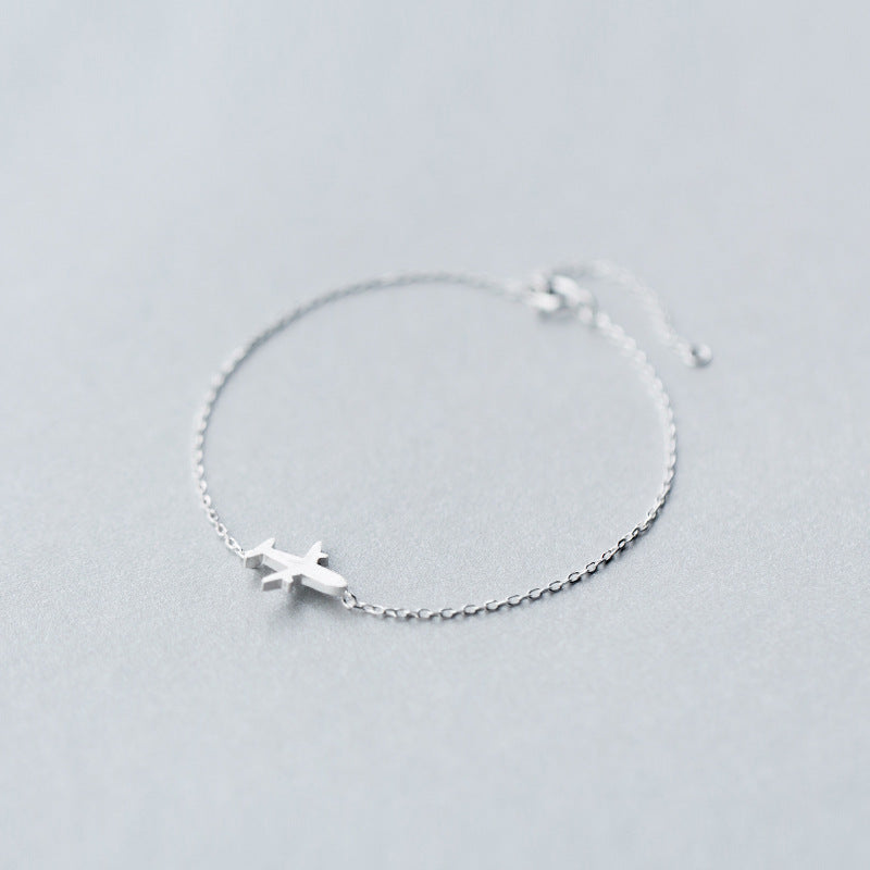 Real. 925 Sterling Silver Jewelry Matte Aircraft airplane Plane chain bracelet/ Earrings /Necklace GTLS293-geekbuyig