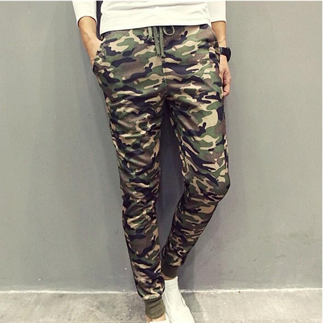 2017 Brand New Camouflage Mens Pants Cool Casual Military Trouser Slim trend Sweatpants Men Joggers Hip Hop Sweatpants-geekbuyig