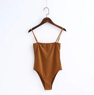 Sexy Slash shoulder Backless Spaghetti Strap Bodysuit 2017 New Woman Sling Tight Short Jumpsuit Slim fit Rompers Playsuits-geekbuyig