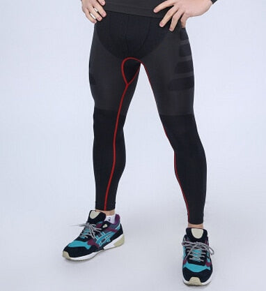Men Compression Pants tight stretch trousers Quick-drying breathable Fitness Shapers Pants-geekbuyig