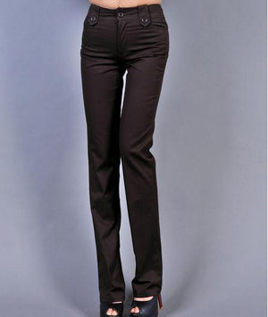 Fashion Woman High quality Flare Pants Mid Waist Trousers for women plus size xxxxl-geekbuyig