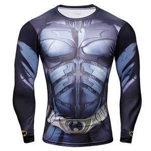 Marvel Deadpool long-sleeved compression t shirt men Deadpoolt 3D printing cosplay t-shirts 2017 summer fitness tights T-shirt-geekbuyig