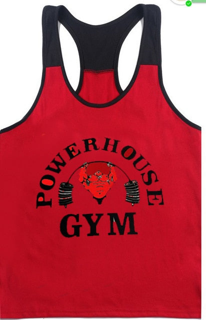 Gyms Tank Top Mens Bodybuilding Tank Tops Stringer Fitness Men Singlets Tanktop Skull printed Clothes Gyms-clothing-geekbuyig