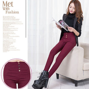 New Summer Elegant Women's Casual Pants OL Work Wear Slim Stretch Pencil Pants Trousers Leggings Women/Female Plus Size bottoms-geekbuyig
