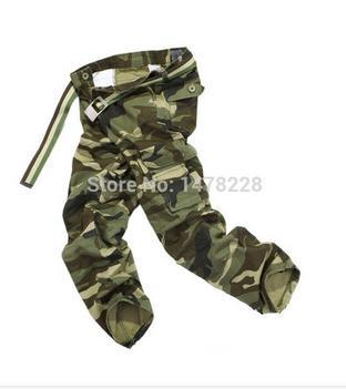 Free shipping Men's Combat Multi-Pockets Utility Casual Loose Long Full Length Cargo Pants Work Trousers Camouflage Size 28-38-geekbuyig