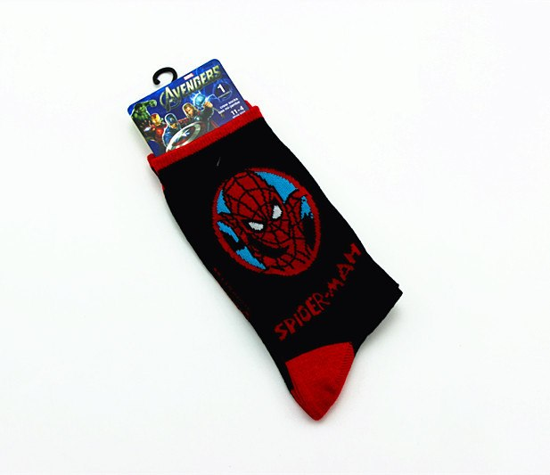 1pair Superman cartoon socks New Fashion Cute Avenger Union Socks Men Colored Superhero Sock Superman Spiderman Hulk Cartoon Sox-geekbuyig