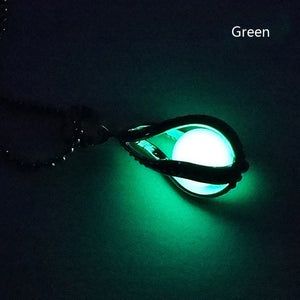 Beauty Can The Hollow Out Water Pendant Pendant Luminous Light Box of Necklace Ball Necklace Women's Fluorite Fashion-geekbuyig