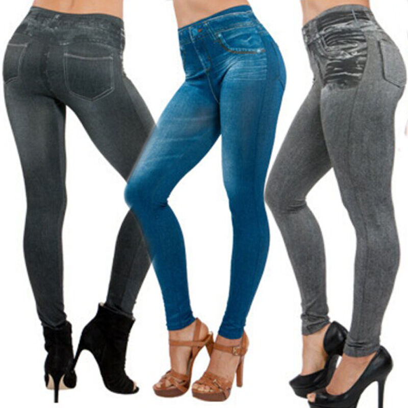 Jeggings Stretchy Slim Leggings NEW Sexy Women Lady Jean Color Skinny Fashion Skinny Leggings Pants-geekbuyig