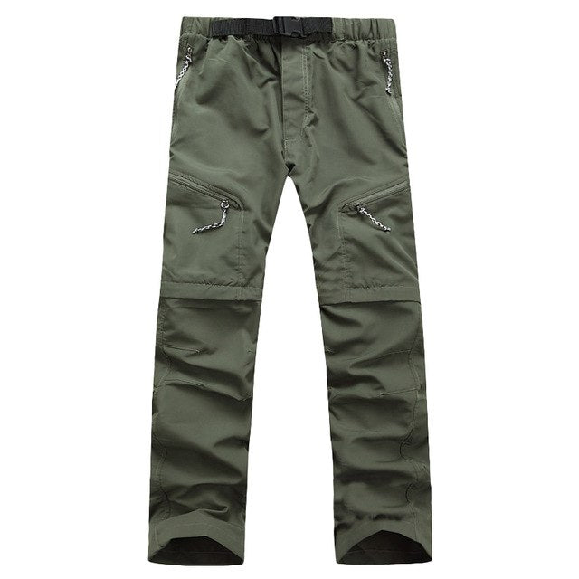 Quick Dry Outwear Pants Men Removable FishingHikingCamping Breathable Pants Men UV Protection Pant Active army Trousers-geekbuyig