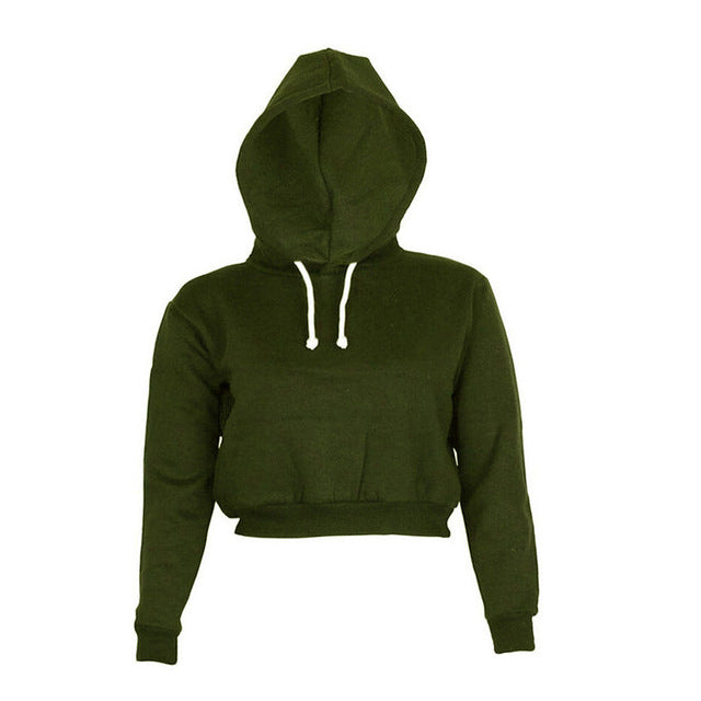 5 Colors Spring Autumn 2017 Women Long Sleeve Cropped Hoodie Sweatshirt Girls Loose Hooded Hoodies Sweatshirts Sudaderas Mujer-geekbuyig