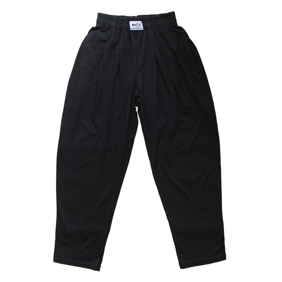 Professional Men Baggy Pants Sportwear Bodybuilding Loose Workout Casual Trouser Lycra Cotton Gyms Fitness Joggers-geekbuyig