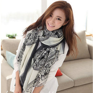 2017 New Arrival Vintage Women Lady Soft Long Neck Large Scarf Wrap Shawl Pashmina Stole Scarves High Quality-geekbuyig