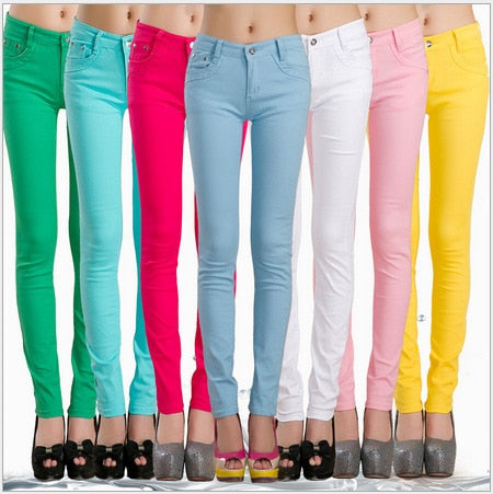 Rogi Formal Pants Trousers Colorful Pencil Pants Summer Women's sexy Slim Trousers Free shipping 21 color 6 size-geekbuyig