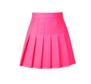 summer American School Style Fashion Women elegant half Pleated mini Skirts high waist casual girls skirts women leggings skirt-geekbuyig