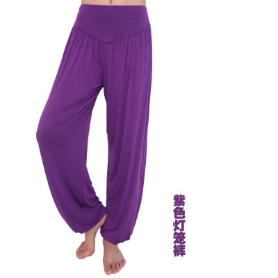 New Women casual harem pants high waist dance pants dance club wide leg loose long bloomers trousers plus size-geekbuyig