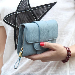 New Luxury Soft PU Leather Women Hasp Wallet Fashion Tri-Folds Clutch For Girls Coin Purse Card Holders Female purse Money Bag-geekbuyig