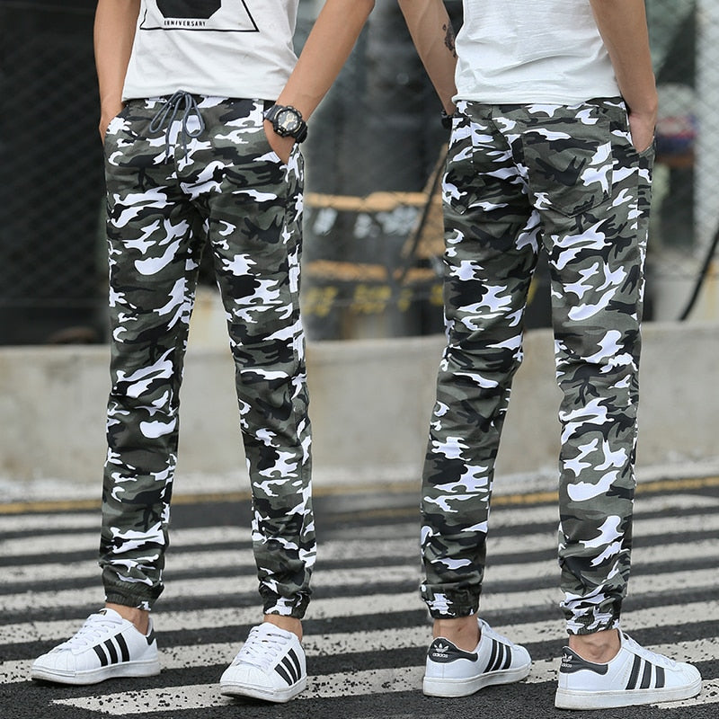 Hot 2016 Men Casual Pants Camouflage Slim Fit Army Camouflage Trousers Pants Hip Hop Sweatpants Military Joggers-geekbuyig