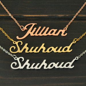 Personalized Necklace,Name Necklace,Custom Name Necklace,Personalized Name Plate Jewelry,Alloy Necklace-geekbuyig
