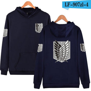 Harajuku Sweatshirt Attack On Titan Cosplay Print Hoodies Japan Comics Hiphop Style Good Quality Red Clothes 6 Color To Choose-geekbuyig