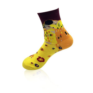 NEW 3D Retro Painting Art Socks Unisex Women Men Funny Novelty Starry Night Vintage Socks HOT-geekbuyig