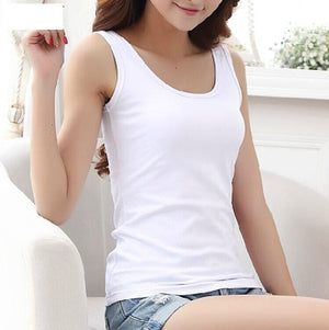 High Quality 16 Colors Summer Style Women Tank Top Camisole Cotton Slim Ladies Thin Vest Bralette-geekbuyig