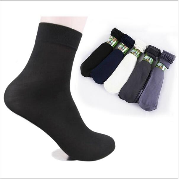 10 pairs / pack Summer Fashion comfortable Men cool black short bamboo fiber thin section short stockings-geekbuyig